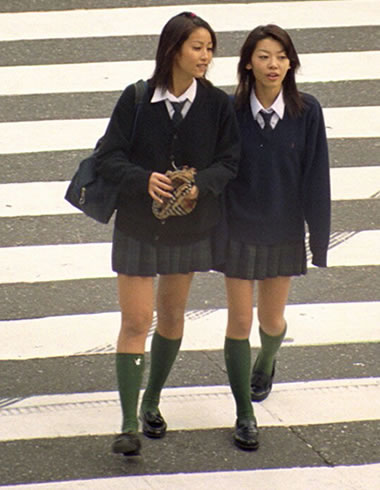 Japanese Schoolgirls in Tokyo - Japan Photo